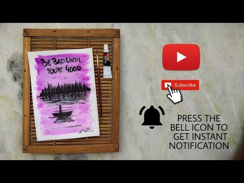 EASY WATERCOLOUR PAINTING TUTORIALS | CALLIGRAPHY | BRUSH PEN | ART CREATO