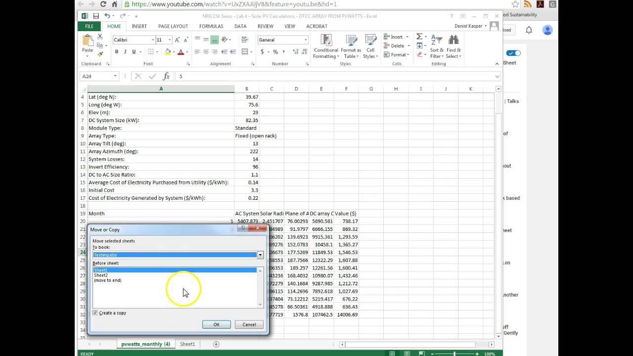 worksheet Copy Worksheet To Another Workbook copying a worksheet to another excel file youtube file