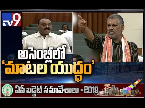 Fight between Chandrababu and Ambati Rambabu in AP Assembly - TV9