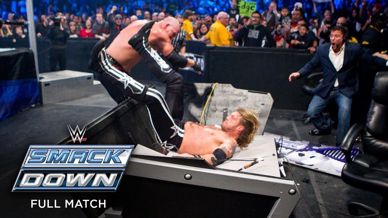 FULL MATCH - Edge vs. Kane - World Heavyweight Title Last Man Standing Match: SmackDown, Jan 7, 2011