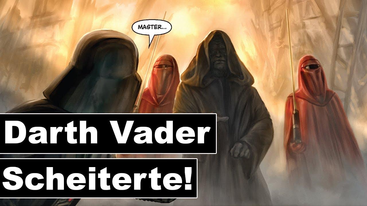 Das erste Mal als Darth Vader scheiterte und wie Palpatine ihn bestrafte! (Legends)