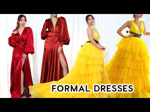 Formal/ Evening Dresses Try-on Haul *so extra*