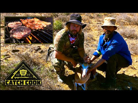 Ep 2 of 3 | Karoo hunt: Hunting Springbok, cooking venison medley | catch cook | South Africa