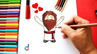 How to draw Jesus Adult (Jesus Christ) step by step easy!