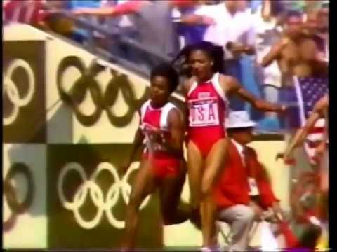 1988 Olympic 4x100 Women BEST RELAY EVER!! USA v East Germany v USSR