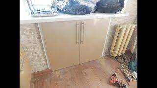 видео Дизайн кухни - Колонка для встраиваемого холодильника
