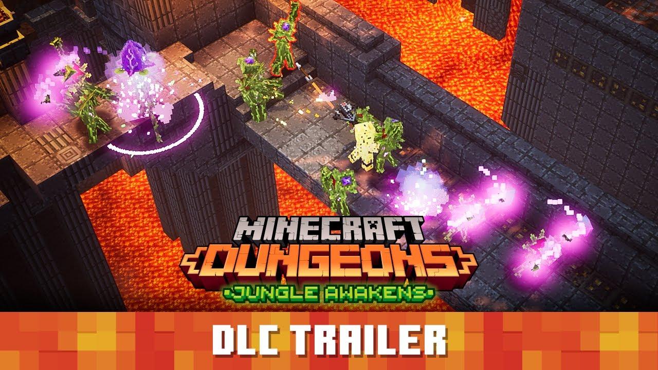 Minecraft Dungeons: Jungle Awakens (ジャングルの目覚め) – 公式ローンチトレーラー