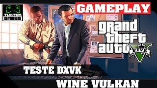GTA V DXVK  // Wine 3.5 Staging via Lutris