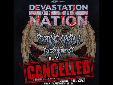Devastation on the Nation Tour 2021 is canceled ...