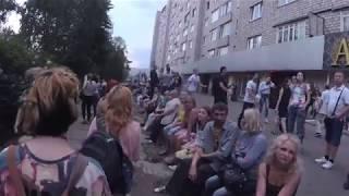 Красноярск. Прогулка в день города, музыка, песни и пляски в грозу