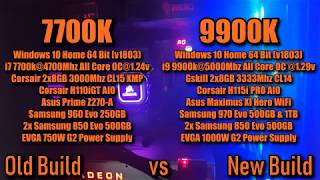 7700k vs 9900k Synthetic Benchmarks, AIDA64 Stress Testing & Temps, Video Encoding Times