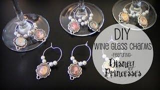 Diy Custom Wine Glass Charms/tags   Disney Princess Theme