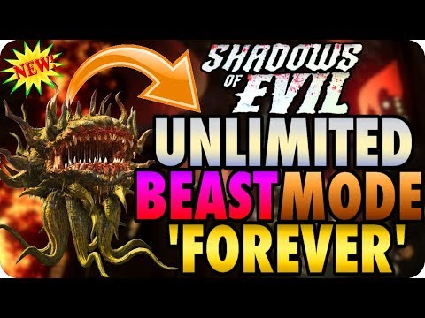 """Shadows Of Evil Glitches: Unlimited Beast Mode """"FOREVER"""" - BO3 Zombie Glitches"""