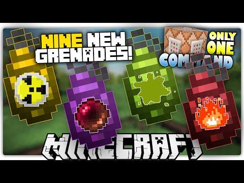 Minecraft 1.9 | GRENADES | Anti-Gravity, Smoke Bombs, Nukes & More! | Custom Command