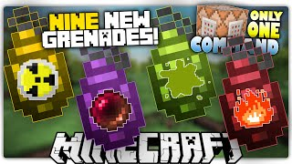 Minecraft 1.9 | GRENADES | Anti-Gravity, Smoke Bombs, Nukes & More! | Custom Command