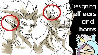 Fantasy Design: Drawing Elf ears and horns for characters