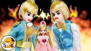 リカちゃん お姫様をハルト王子とレン王子が取り合い! 第2弾★ プリンセスのお城で料理勝負★ 赤ちゃん お世話 おもちゃ 人形 アニメ ここなっちゃん thumbnail