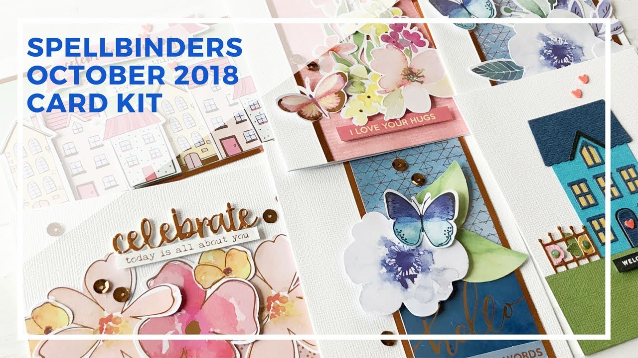 Spellbinders Card Kit of the Month October 2018