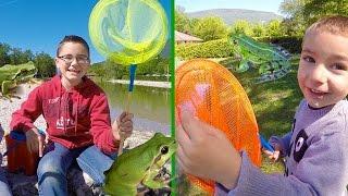 VLOG - Pêche aux grenouilles - Sortie nature pour Swan et Néo