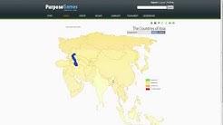Maantietopeli - Maailman maat englanniksi (PRO HAASTE)