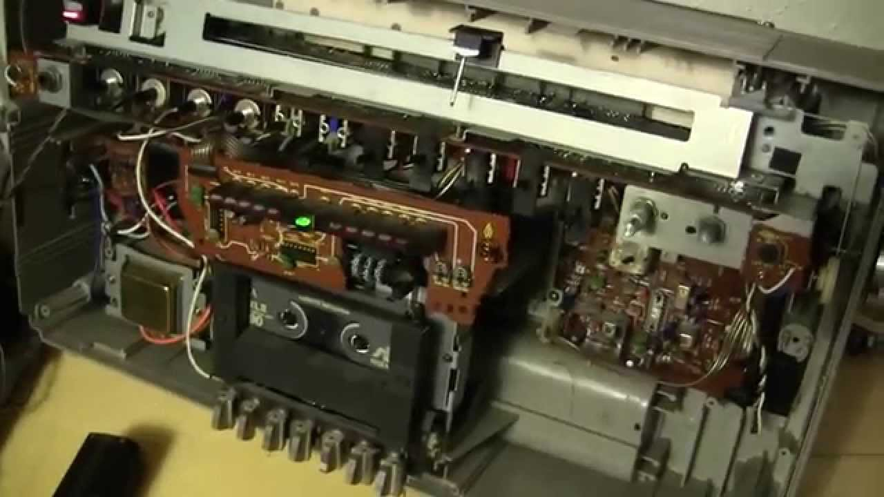 Panasonic RX5250 boombox inside repaired best I can  YouTube