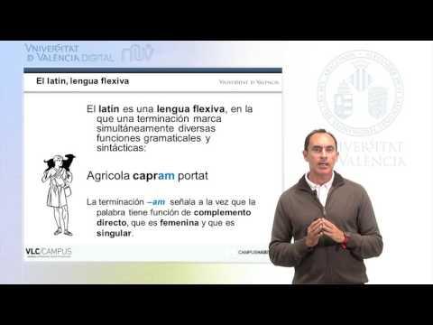 Lección 1.2 MOOC Incipit, Curso De Latín Básico