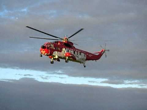 An Irish Coast Guard Sikorsky pays a visit