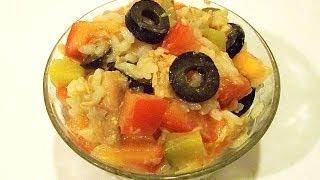 Салат с Рисом и Tунцом «Яркий» кулинарный видео рецепт(Из всех салатов я больше всего люблю готовить те, которые не требуют долгой предварительной подготовки...., 2013-11-22T03:17:47.000Z)