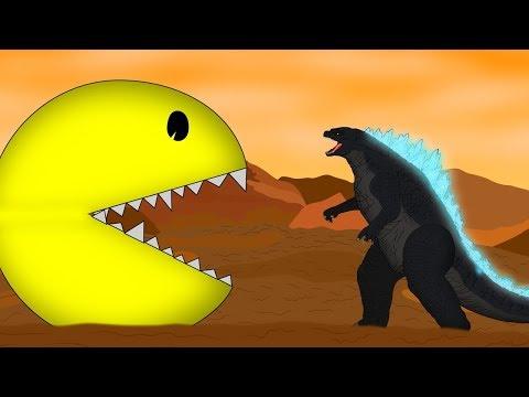 Godzilla Vs Pac-Man: : Size Comparison