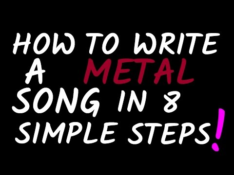 how to write a metal song This video guides you through the process of how to write and record a song from scratch, with no prior ideas, using a modern writing technique i use guitar as my main instrument to write, but you can use any instrument my genre of choice is metal, but this method applies to any style of music you play.
