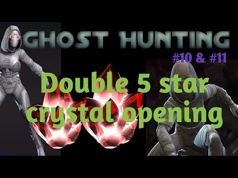 Double 5 star crystal opening. Ghost hunting #10 and #11. MCOC