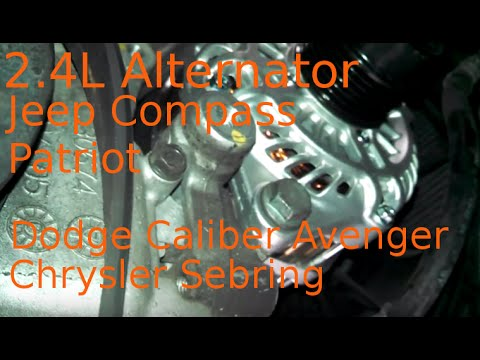 Alternator replacement 2007 Jeep Compass 24L Patriot how to change