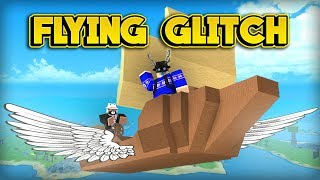 INSANE FLYING BOAT GLITCH! (ROBLOX Booga Booga)