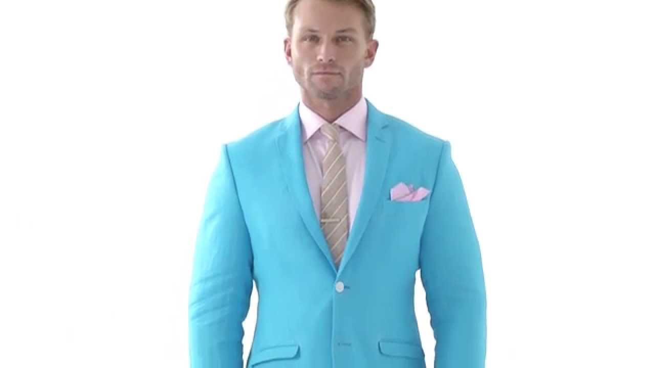 Light blue tailored linen suit - by Montagio Custom Tailoring Sydney ...