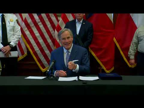 Texas Governor Greg Abbott And State Officials Provide Update On COVID-19 - 3/29/2020