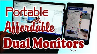 Portable Dual Monitor Setup with Laptop Ipad and Mountie