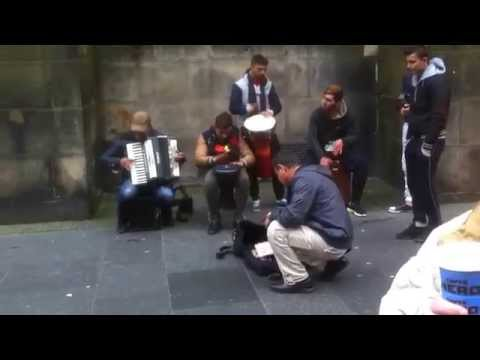 Edinburgh Pre-Festival 2015 - Romany Gypsy Music on the Royal Mile