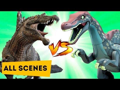 Динозавры Лего МУЛЬТИК против КИНО   LEGO VS MOVIE   Dinosaurs   All Scene