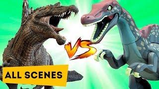 Динозавры Лего МУЛЬТИК против КИНО | LEGO VS MOVIE | Dinosaurs | All Scene