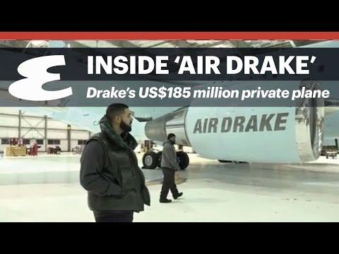 Inside Drake's US$185 million private jet 'Air Drake'