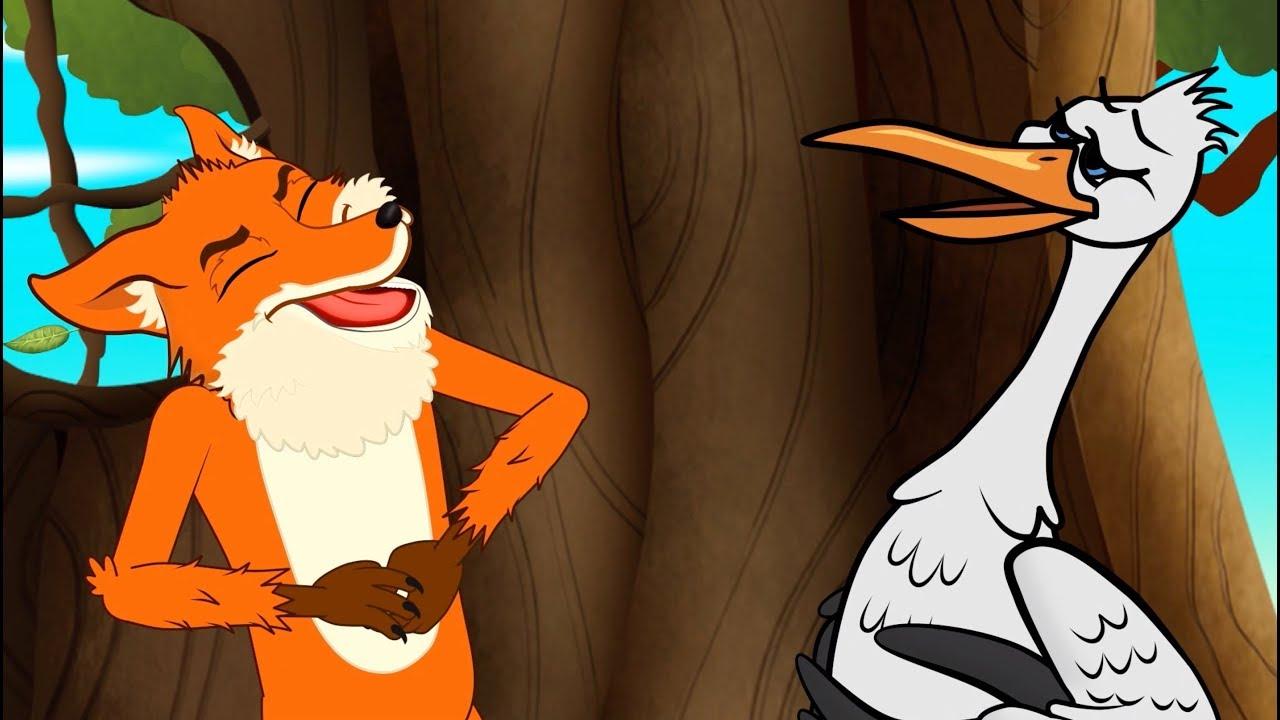 Le renard et la cigogne 1 conte 4 comptines et chansons dessins anim s en fran ais youtube - Le renard et la cigogne dessin ...