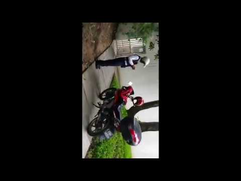 Motorcycle Illegally Parked On Sidewalk - Leonie hill road, Singapore