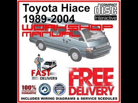 toyota hiace workshop manual 1989  2004