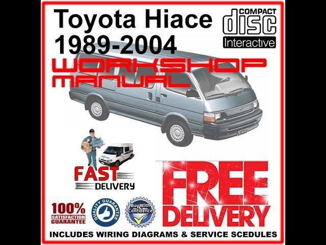 toyota hiace workshop manual 1989 - 2004 - youtube  youtube