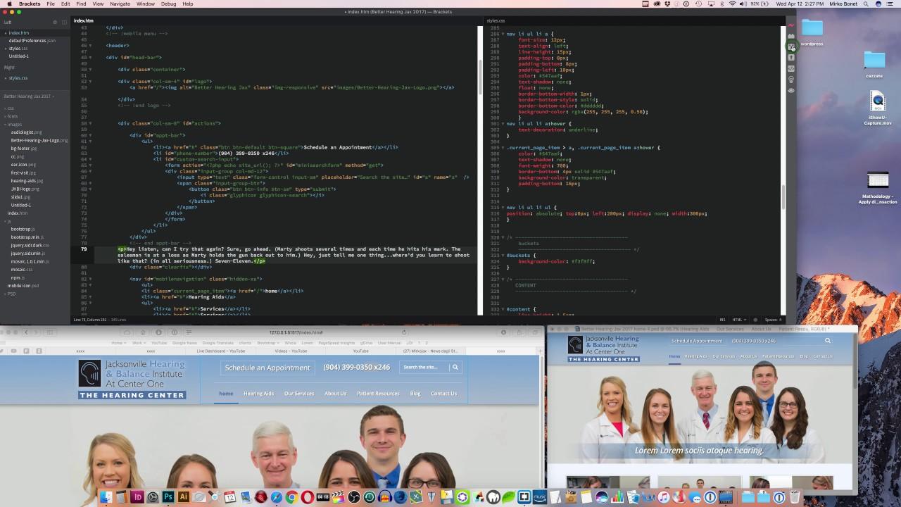 Programmare un sito web: Brackets vs Coda - Parte 1