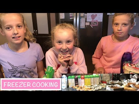 Freezer BAKING With The GIRLS | Australian Family Vlog