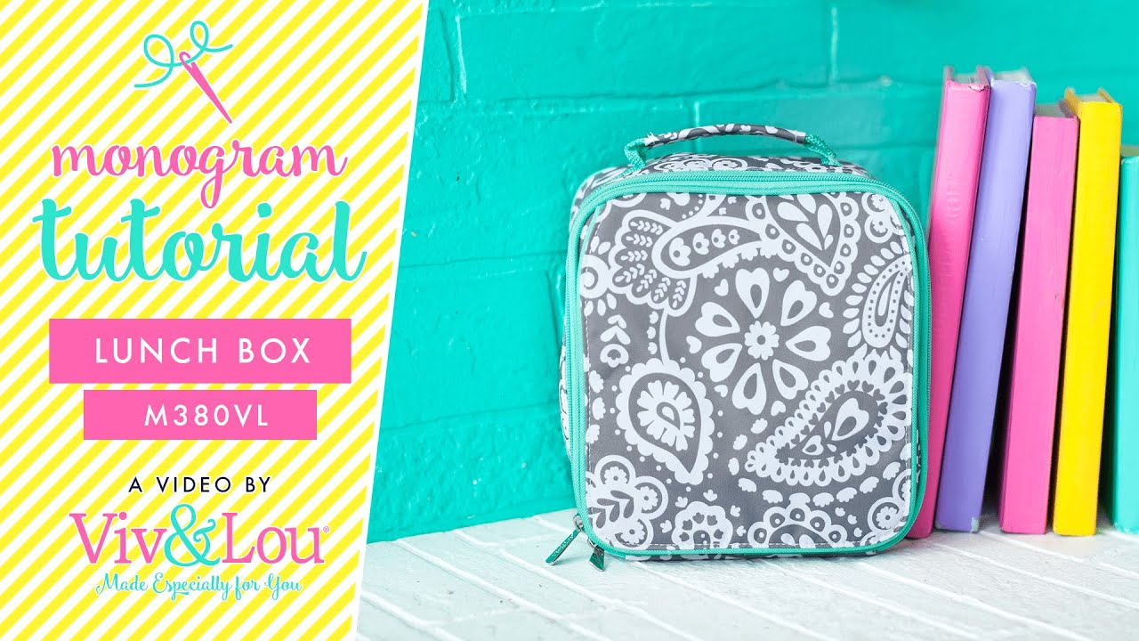 How To Monogram: Lunchbags