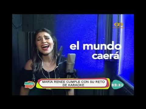 El karaoke con María Renée