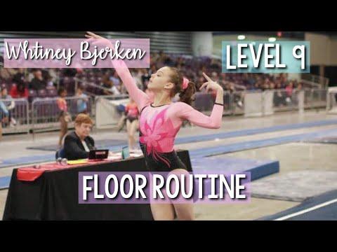 Whitney Bjerken Level 9 Floor Routine Switched Music   April Bradley