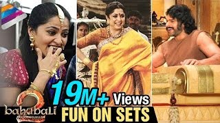 Baahubali 2 FUN ON SETS | Prabhas | Anushka | Rana | SS Rajamouli | Bahubali 2 | #SaahoreBaahubali